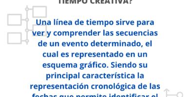 línea del tiempo creativa